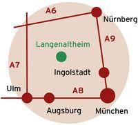 Langenaltheim liegt zwischen München, Nürnberg und Augsburg
